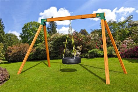 tire swings for swing sets classic tire wood swing set eastern jungle gym