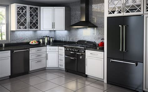 AGA Legacy Suite   36 Inch Solid Door Black   range
