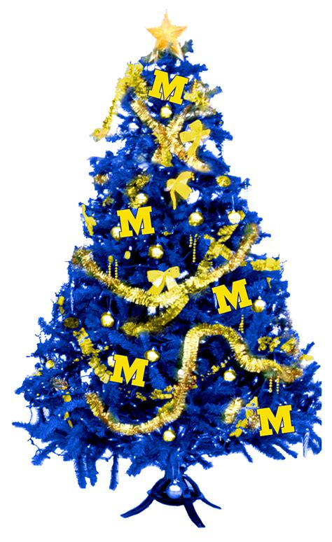 michigan band maize blue merry m go blue christmas