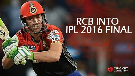 rcb enter ipl 2016 finals beat gl by 4 wkts live score rcb in final of ipl 2016 after ab de villiers iqbal