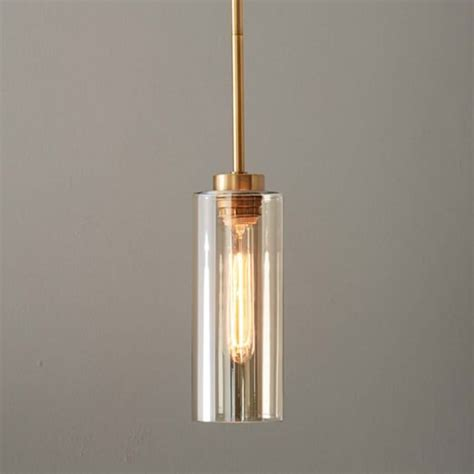 Glass Cylinder Pendant West Elm Cylinder Pendant Lighting