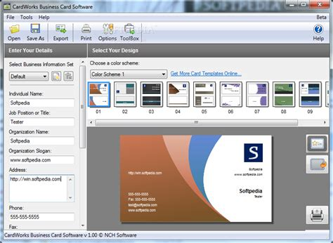 Cardworks Business Card Software Templates by Cardworks Business Card Software Plus V1 14 Incl