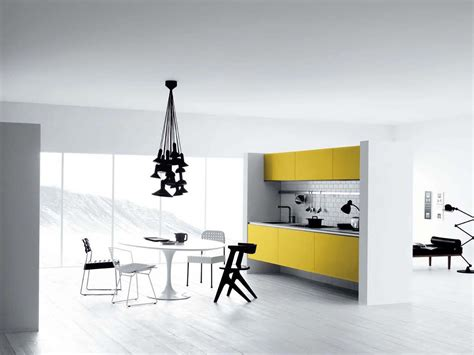 modern yellow cool white and yellow kitchen design vetronica by meson
