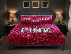 Polyester Comforters Victoria Secret Pink Bedding Glitter Look Not Real Glitter