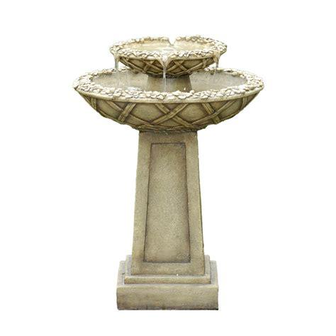 kontiki water features tiered fountains bird bath
