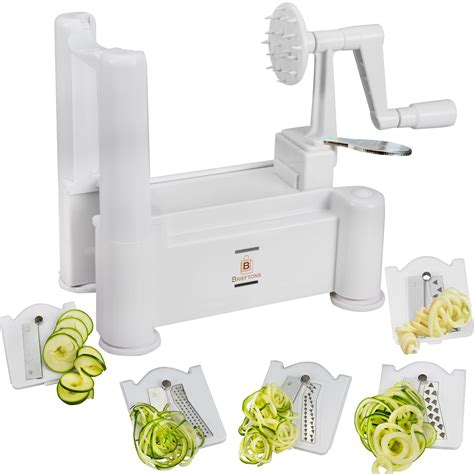Vegetable Spiral Slicer oco family brieftons 5 blade spiralizer vegetable