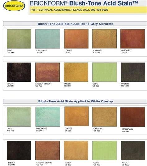 acid stain concrete colors acid stain concrete colors