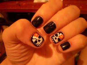 skull nail art nail art gallery