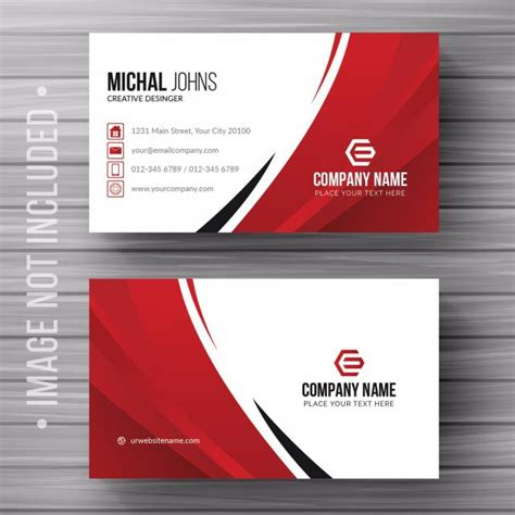business card details template white business card with details template free