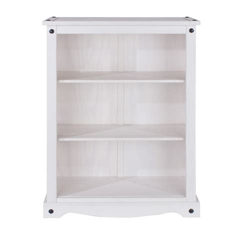 white washed pine cabinets 3 shelf bookcase corona display media cabinet solid