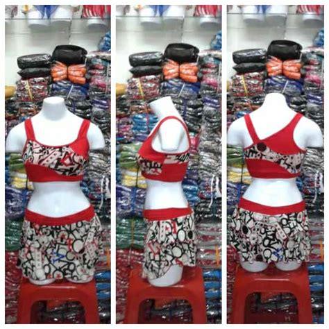 Baju Senam Jaring Merah jual baju senam model rok jaring murah kode td 010