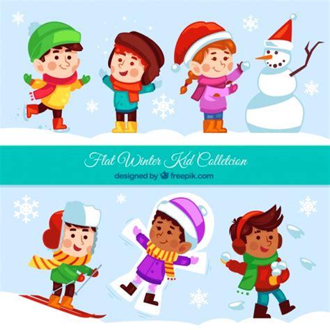 imagenes de niños jugando en invierno colecci 243 n de divertidos ni 241 os jugando con la nieve