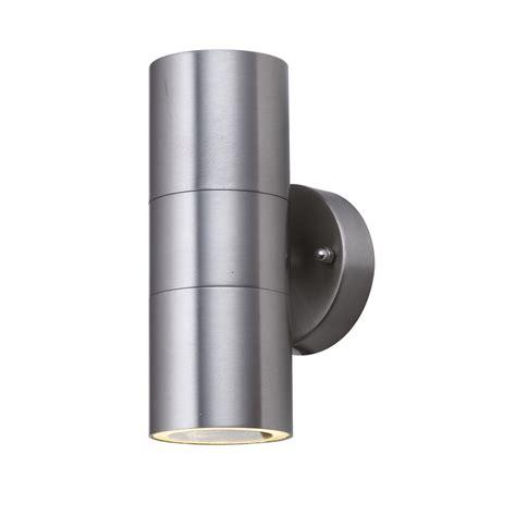 outdoor 2 light medium wall bracket stainless steel ip44 2 light outdoor wall bracket
