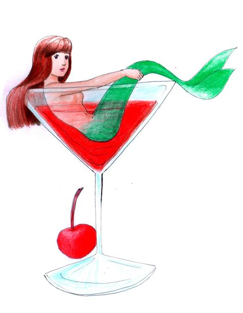 martini mermaid cocktail glass mermaid by hananovie on deviantart