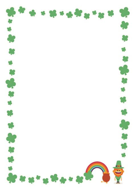 st patricks day writing paper free st s day printable writing paper with clover