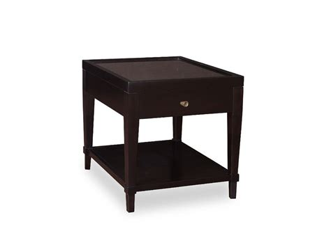 Living Room End Tables Square Brown End Table With Drawer For Living Room Decofurnish