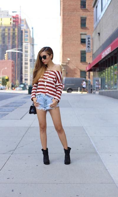 Baju Sabrina Tops Garis Stripe Blouse Shoulder Wanita Korea Import ingin til seperti fashion padukan baju