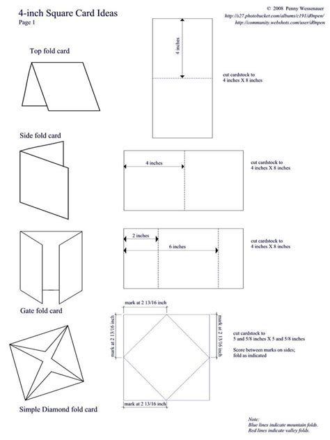 517 Best Cards Folding Techniques Images On Pinterest Card Folds Templates