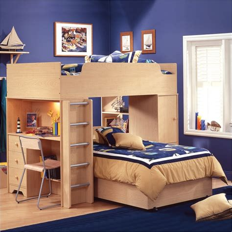 Boy Bunk Beds With Desk L Shape Bunk Beds Design Useful And Beautiful Furniture Designs Interior Design