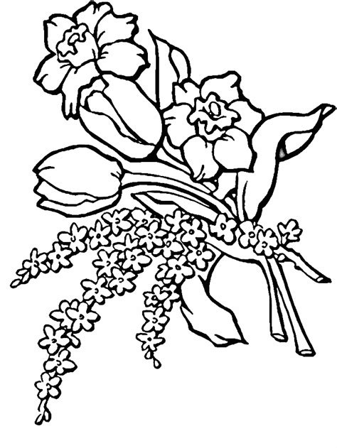 printable coloring pages of realistic flowers realistic flower coloring pages az coloring pages