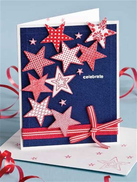 Independence Day Handmade Cards - handmade card for the 4th of july invitation card