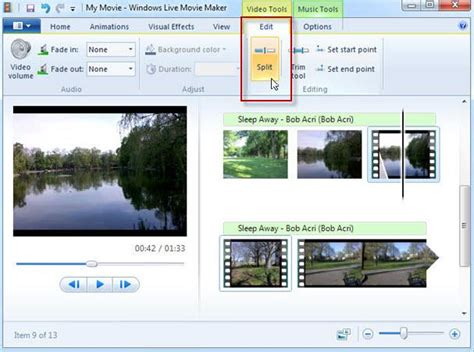 tutorial cortar audio windows movie maker how to split videos in windows live movie maker