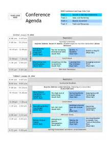 programme template for conference conference agenda template