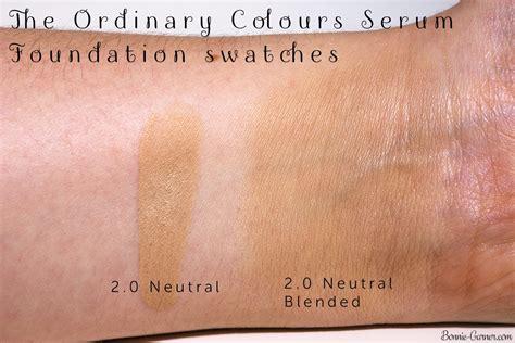 Ordinary Serum Foundation the ordinary colours serum foundation my review bonnie