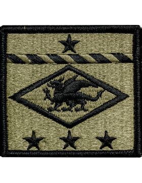 operational camouflage pattern unit patches ocp unit patch 13th finanace group with fasterner