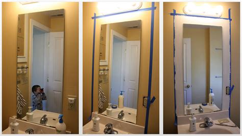 how to make a bathroom mirror frame diy frame your bathroom mirror and our bathroom