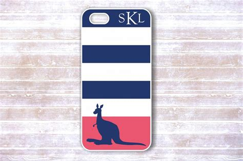 Iphone 4 4s Adidas Blue Stripe Hardcase iphone 4 4s navy blue and pink striped kangaroo