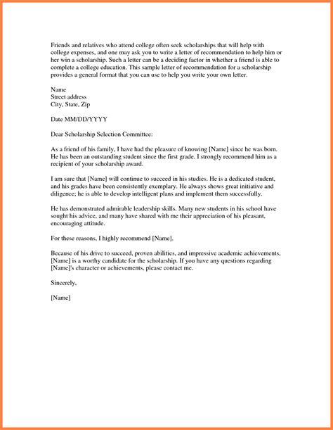 Recommendation Letter For Scholarship Pdf