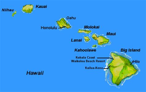 map of hawaii islands the hawaiian islands about hawaii hawaii map