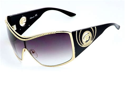 blumarine sunglasses 96441 shiny gold black shades