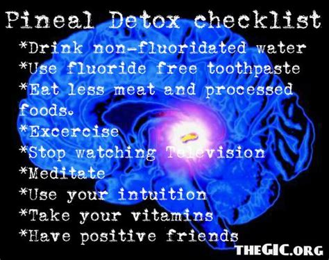 How Does Fluoride Detox Take by How To Decalcify Your Pineal Gland