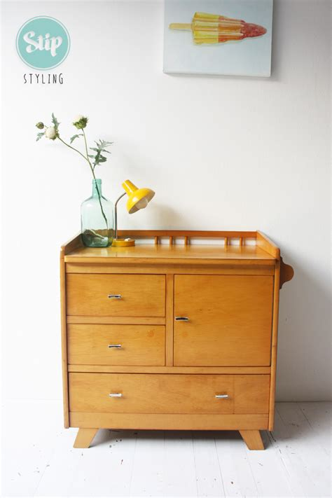 commode vintage vintage commode hout stip styling