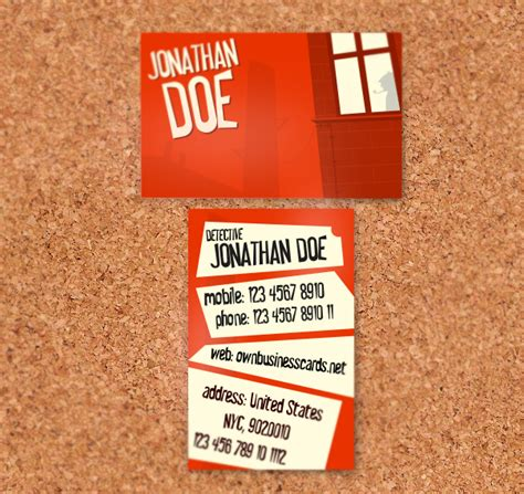 Detective Business Card Templates by Business Card For Detective Graphic Design Forum