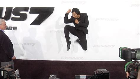 thai actor fast and furious tony jaa quot furious 7 quot los angeles premiere stunts youtube