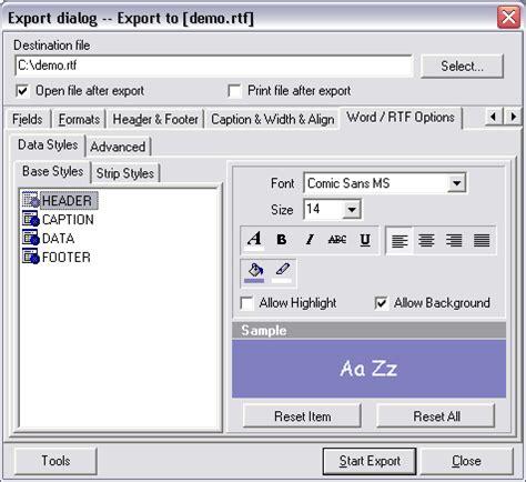 delphi ems tutorial advanced data export shareware advanced data export is a