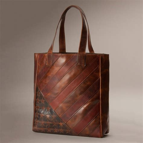 Handmade Bag Company - the frye company leather flag tote so that s cool