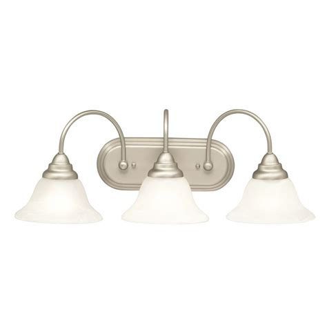 Kichler Bathroom Light Fixtures Kichler 5993ni Brushed Nickel Telford 25 Quot Wide 3 Bulb Bathroom Lighting Fixture Lightingdirect
