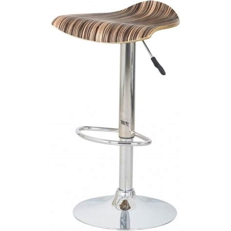 wood and chrome bar stools buy striped wood veneer and chrome bar stool from fusion living