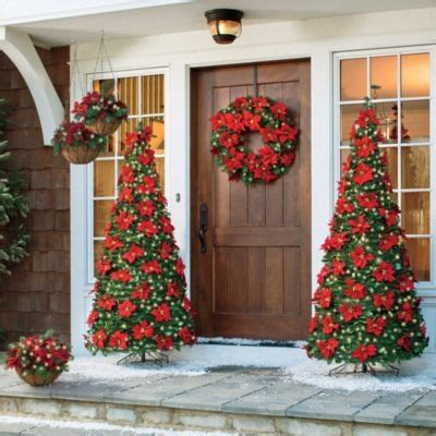 marvellous outdoor poinsettia decorations gallery best