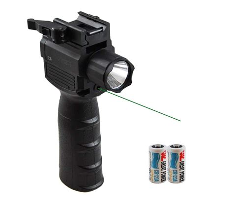 ar 15 laser light vism vertical foregrip w tactical flashlight green laser