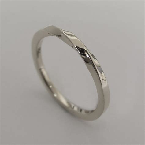 Platinum Wedding Bands by Mobius Ring Platinum Ring Wedding Ring Platinum