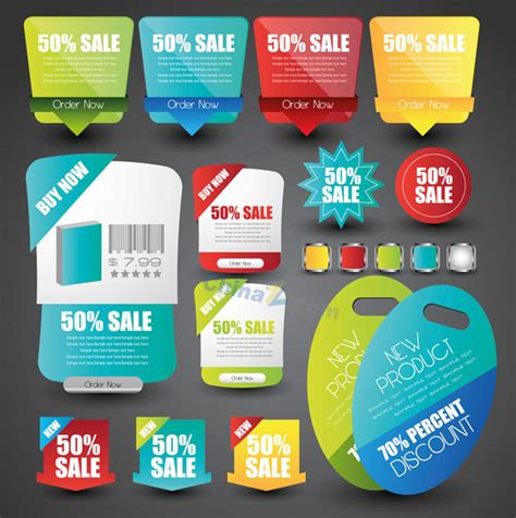web price web page price tag vector material free