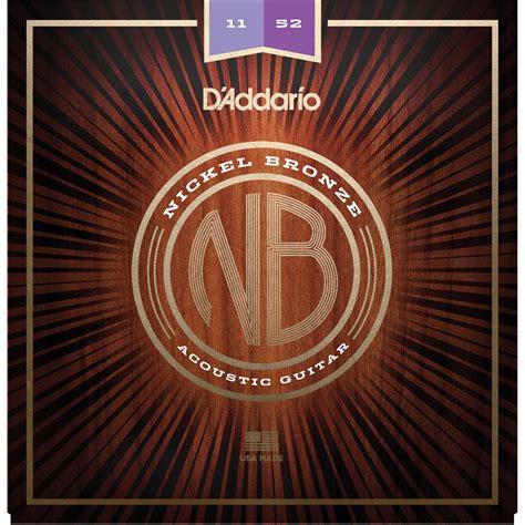 D Addario Nb1152 Custom Light Nickel Bronze Acoustic Guitar String Lights