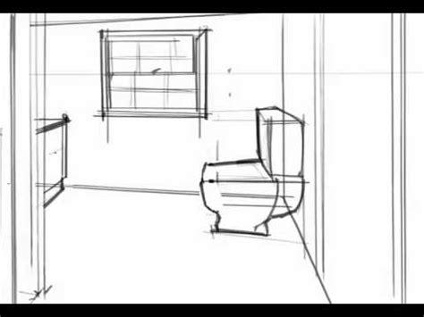badezimmer zeichnung tutorial bathroom perspective
