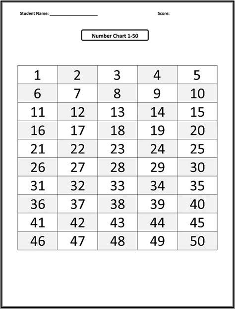 free printable table numbers 1 50 1 50 number chart loving printable