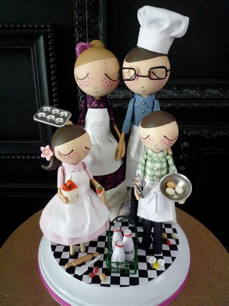wedding cake topper with chef theme as seen in sur la table